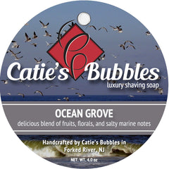 Catie's Bubbles Ocean Grove Luxury Shaving Soap 4oz - Straight Razor Designs