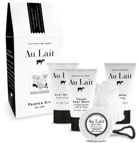 Scottish Fine Soaps Au Lait Pamper Kit