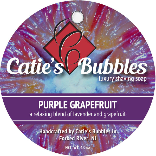 Catie's Bubbles Purple Grapefruit Luxury Shaving Soap 4oz