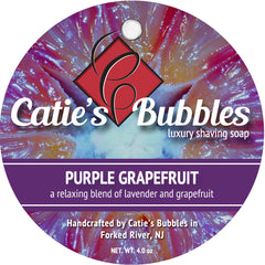 Catie's Bubbles Purple Grapefruit Luxury Shaving Soap 4oz - Straight Razor Designs