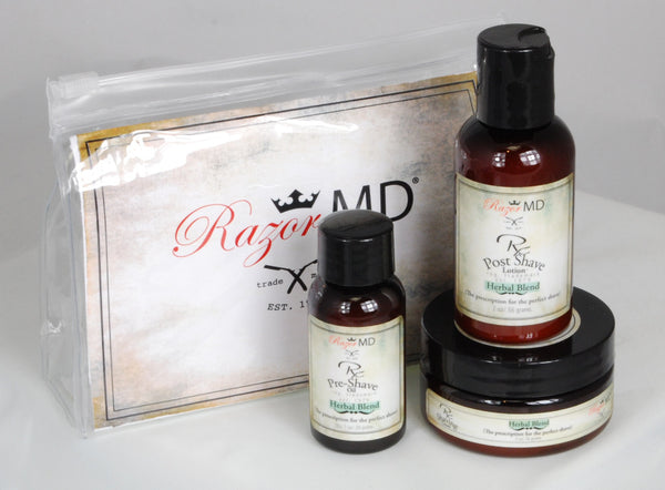 Razor MD Rx Shave Trio - Herbal Blend Travel Trio