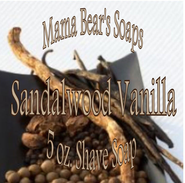 Mama Bear Glycerin Shaving Soap - Sandalwood Vanilla