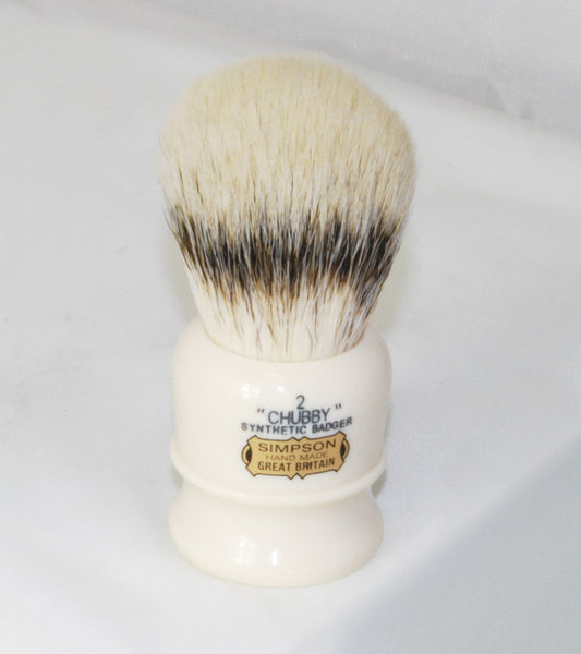 Simpson Chubby 2 in Synthetic Badger