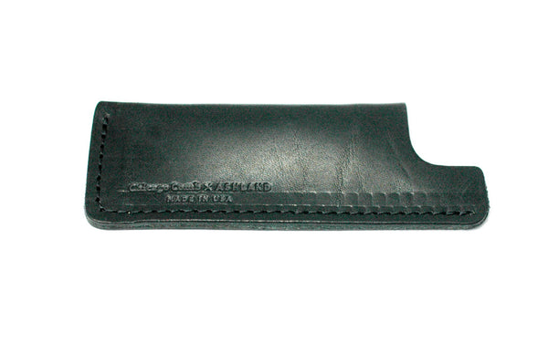 Chicago Comb Co. Black Horween Leather Sheath Small