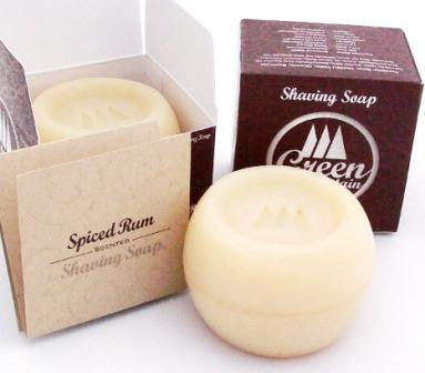 Green Mountain Soap Spiced Rum Triple Milled Shaving Soap