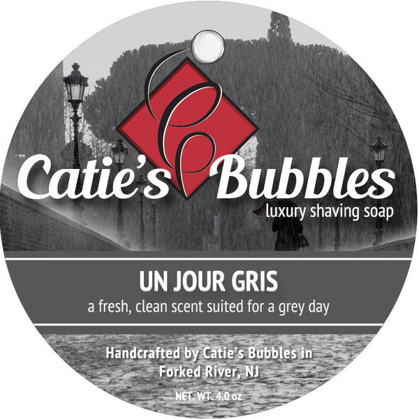 Catie's Bubbles Un Jour Gris Luxury Shaving Soap 4oz