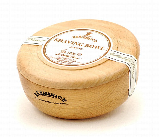 D.R. Harris Almond Shave Soap in Beechwood Bowl