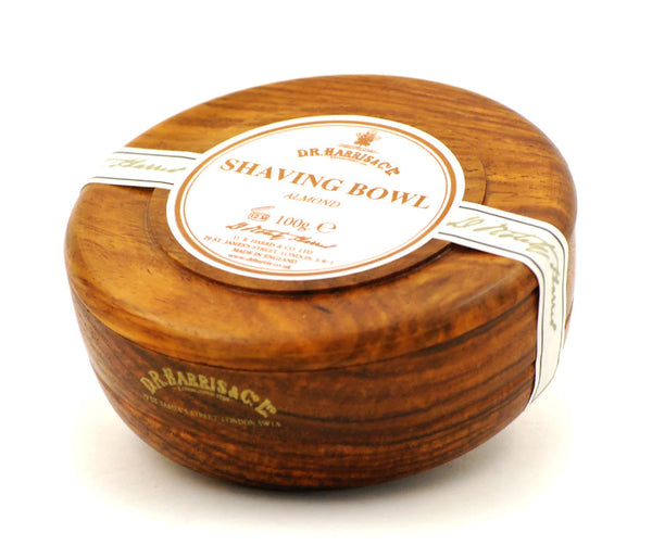 D.R. Harris Almond Shave Soap in Mahogany Bowl