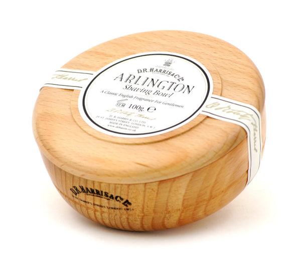 D.R. Harris Arlington Shave Soap in Beechwood Bowl