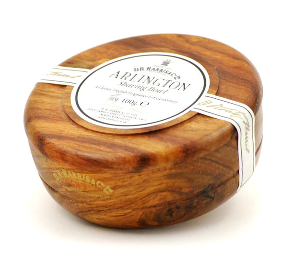 D.R. Harris Arlington Shave Soap in Mahogany Bowl