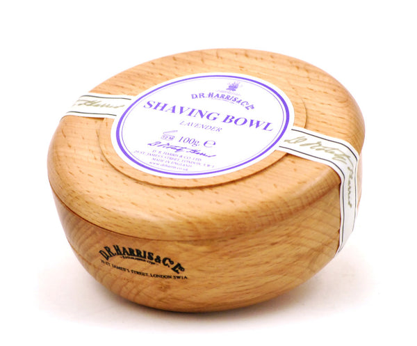 D.R. Harris Lavender Shave Soap in Beechwood  Bowl
