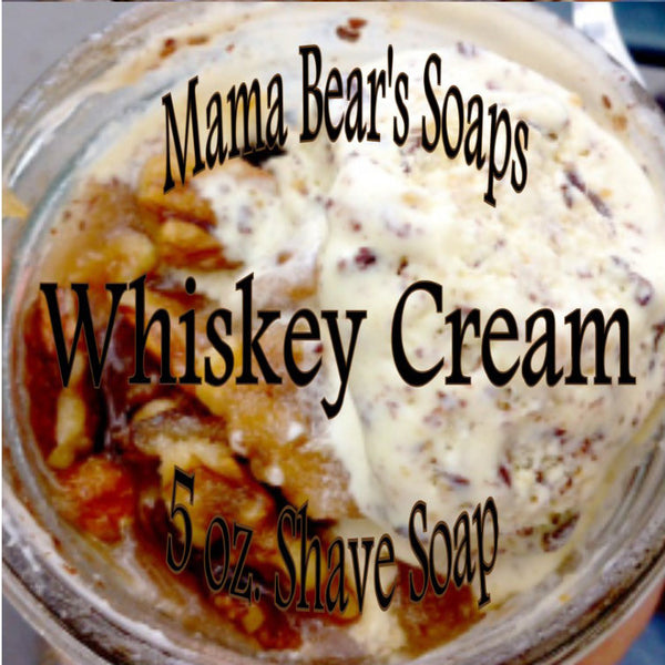 Mama Bear Glycerin Shaving Soap - Whiskey Cream