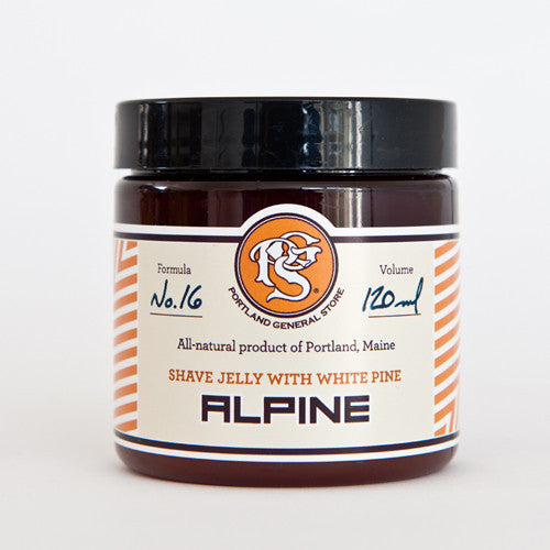 Portland General Store Alpine Shave Jelly with White Pine