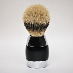 Merkur Silvertip Alu Shaving Brush - Black