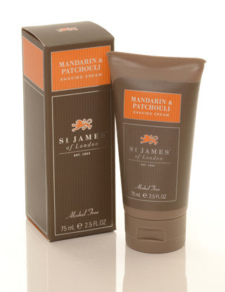St James of London Mandarin & Patchouli Shave Cream Tube
