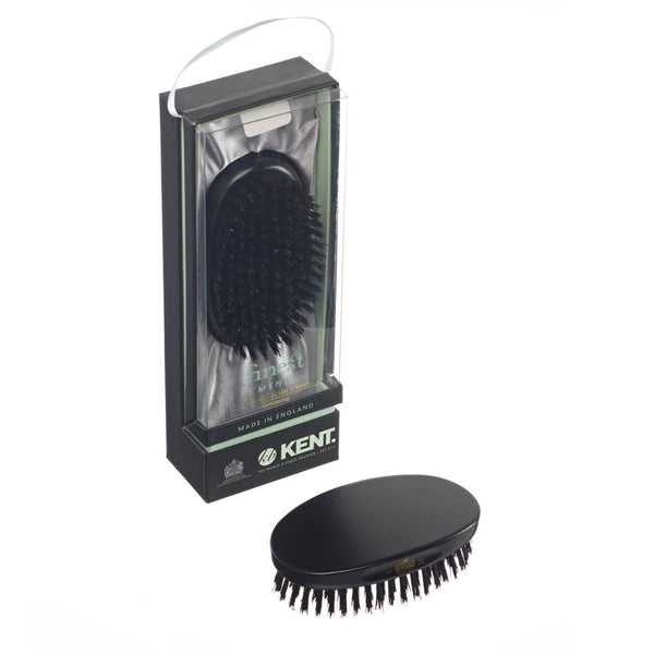 Kent Hair Brush MN11 Ebony Wood with Pure Black Bristles