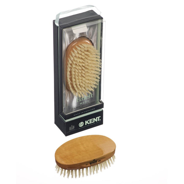 Kent Hair Brush MS11 Satinwood Pure White Bristles