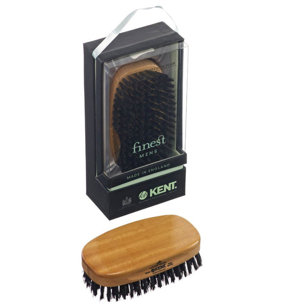 Kent Hair Brush MS23 Satinwood with Pure Black Bristles