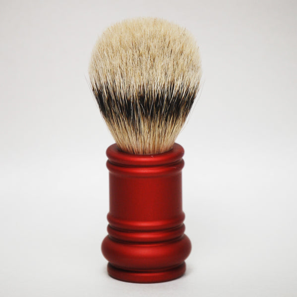 Merkur Silvertip Red Barber Pole Brush