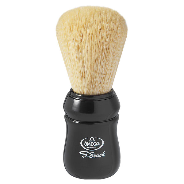 Omega S10049 S-BRUSH PRO Synthetic Shaving Brush - Black