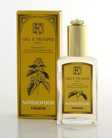 Geo. F. Trumper Sandalwood Cologne Glass Atomizer Bottle 50 ml