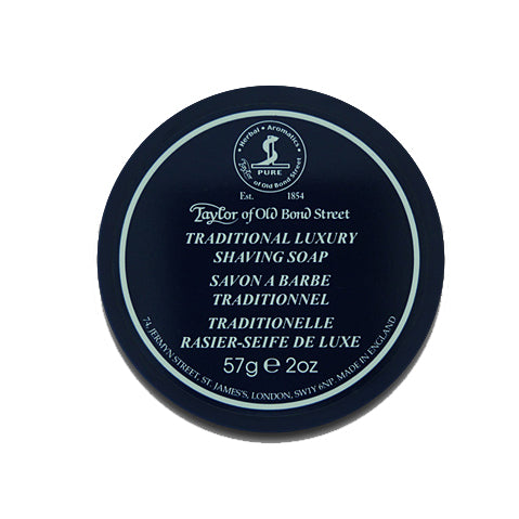 Taylor of Old Bond Street Shaving Soap in Blue Travel Bowl 57g