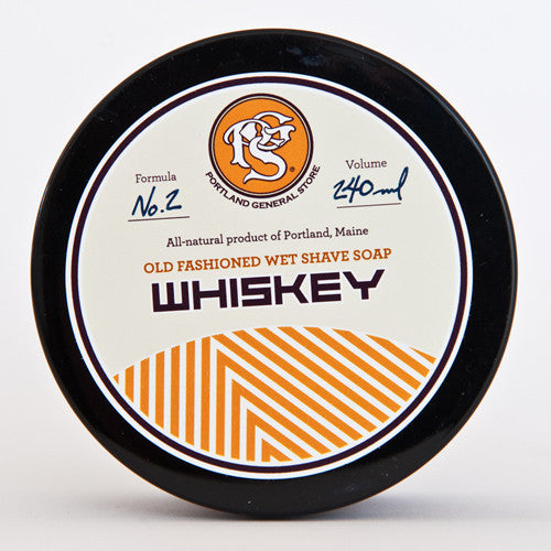 Portland General Store Whiskey Old-Fashioned Wet Shave Soap