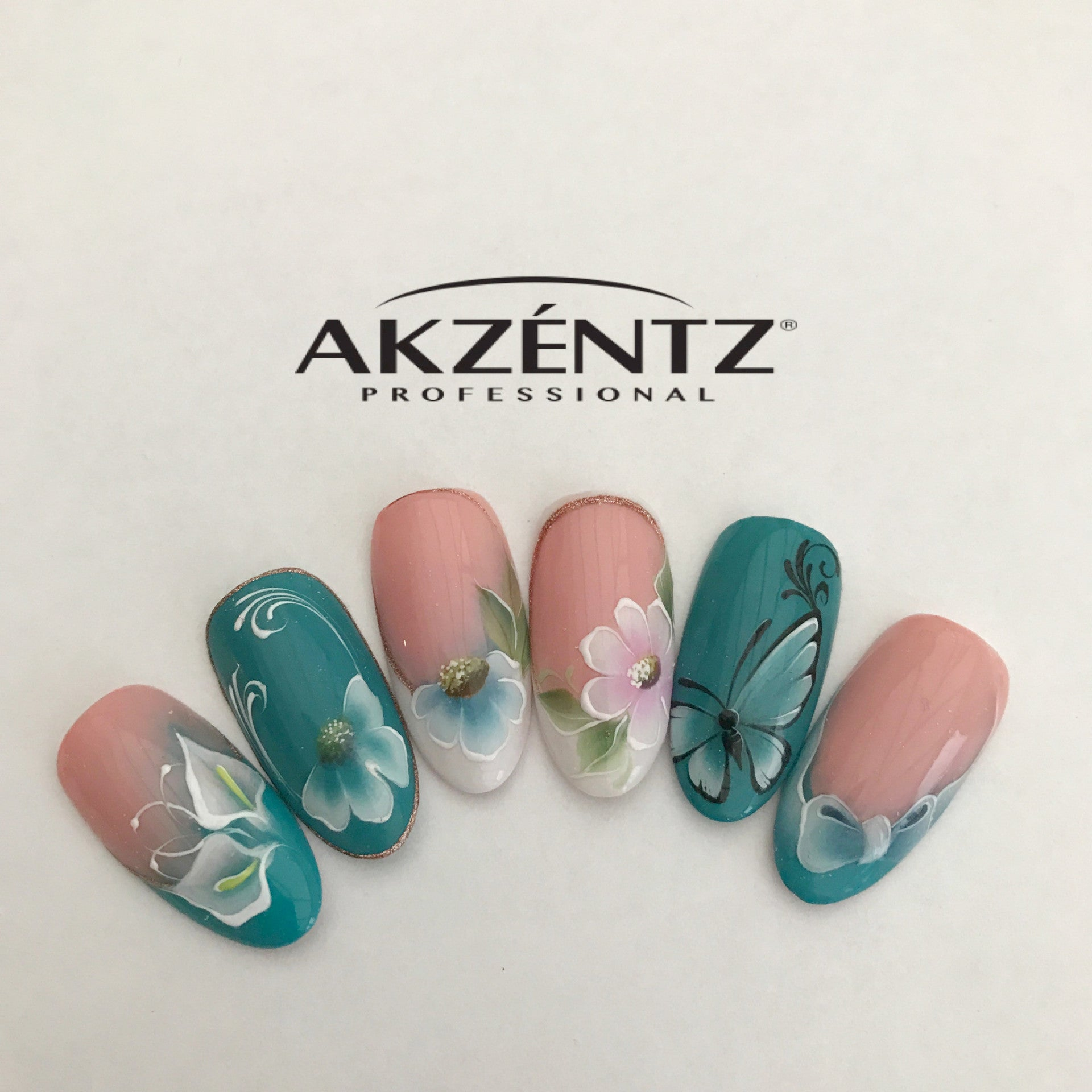 Akzentz Gel Play One Stroke Design Class Wales Hazel Dixon Nail