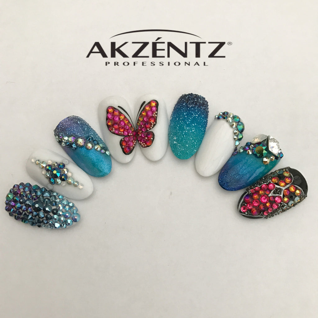 AKZENTZ GEL PLAY BLING IT ON DESIGN CLASS *Wales*