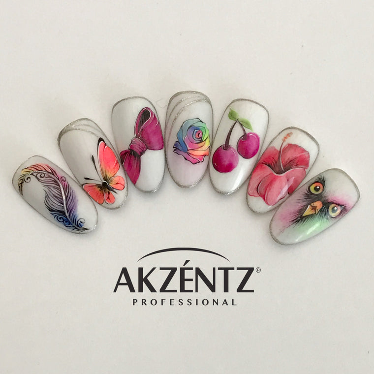 AKZENTZ LUXIO GEL POLISH WATERCOLOUR DESIGN CLASS *Cambridge*