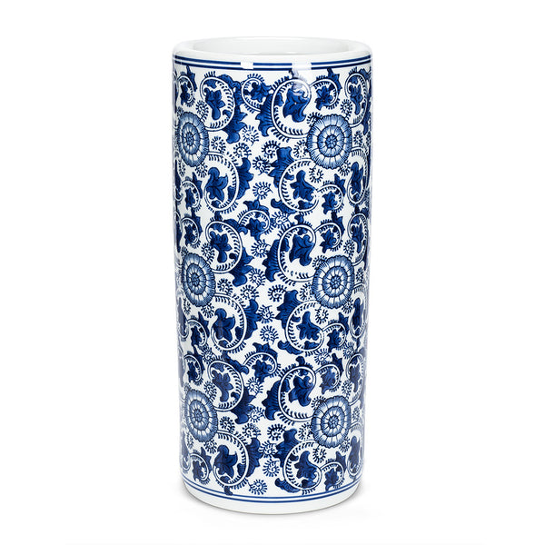 Indigo Patterned Umbrella Stand