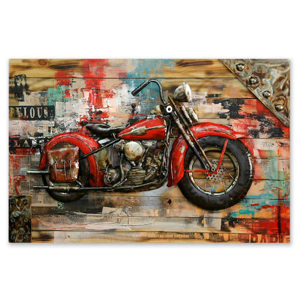 Vintage Motorcycle on the Wall