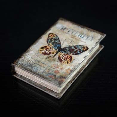 Vintage Butterfly Decorative Book Box