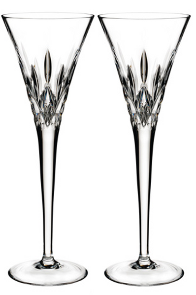 Waterford Toasting Crystal Clear Flute Glasses