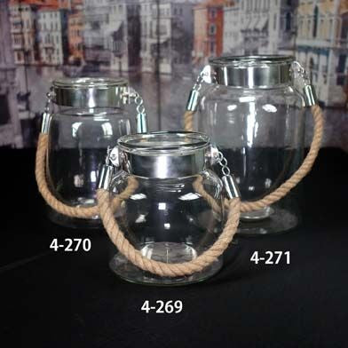 Nautical Clear Glass Decorative Jar 8""