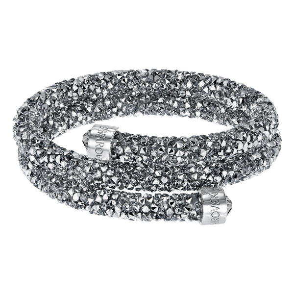Swarovski New Crystaldust Bangle Double, Gray