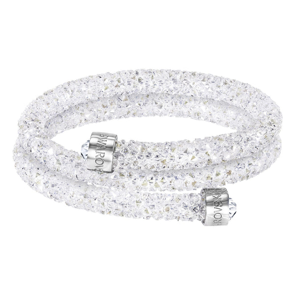 Swarovski Crystaldust Bangle Double, White