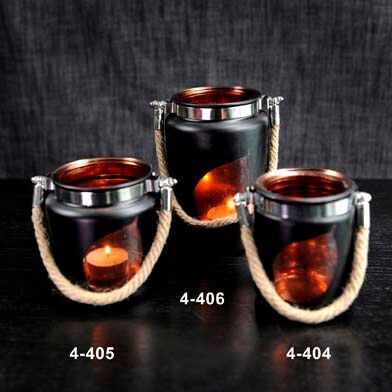 Glass Tea Light Jar Holder