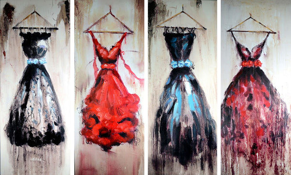 Modern Dresses Oil Painting