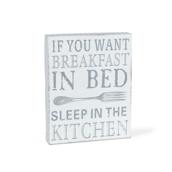 """Breakfast in Bed"" Decorative Sign"
