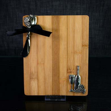Gourmet Wine & Grapes Cutting Board