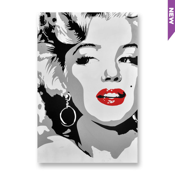 Marilyn Monroe Screen Print Aluminum Canvas