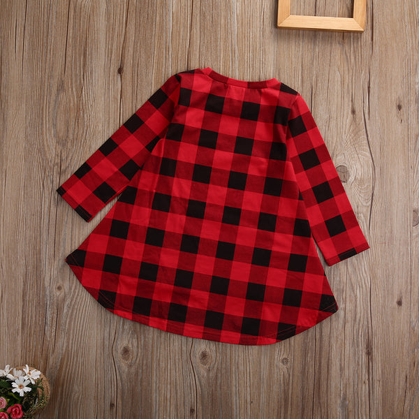 The Buffalo Plaid Kids Dress - Nicolette's Couture