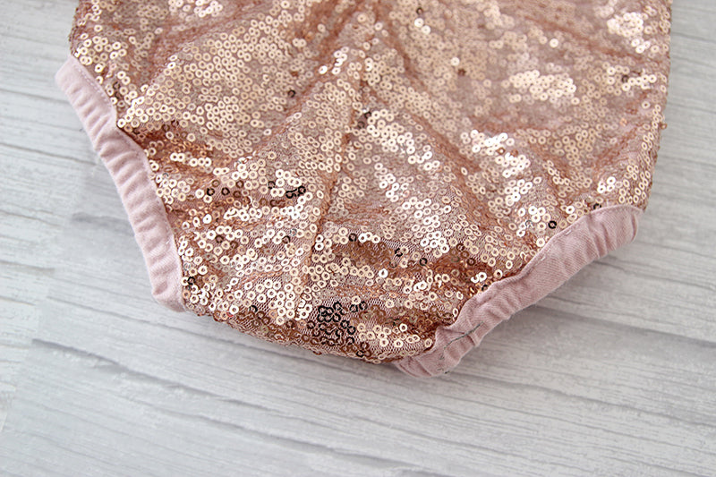 The Elise Leotard - Rose Gold - Nicolette's Couture