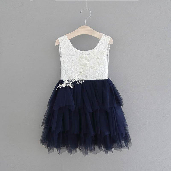 The Alanna Dress - Navy - Nicolette's Couture