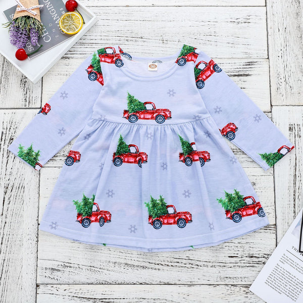 The Little Red Truck Dress - Nicolette's Couture