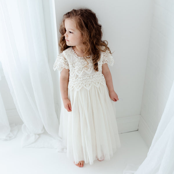 The Sienna Dress - Ivory - Nicolette's Couture