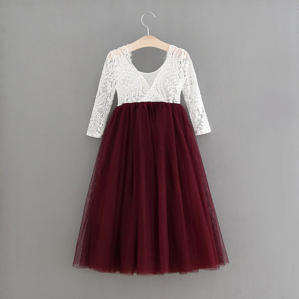 The Jocelyn Dress - Burgundy - Nicolette's Couture