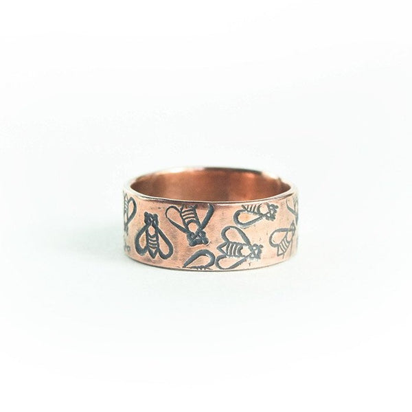 Copper Bee Ring