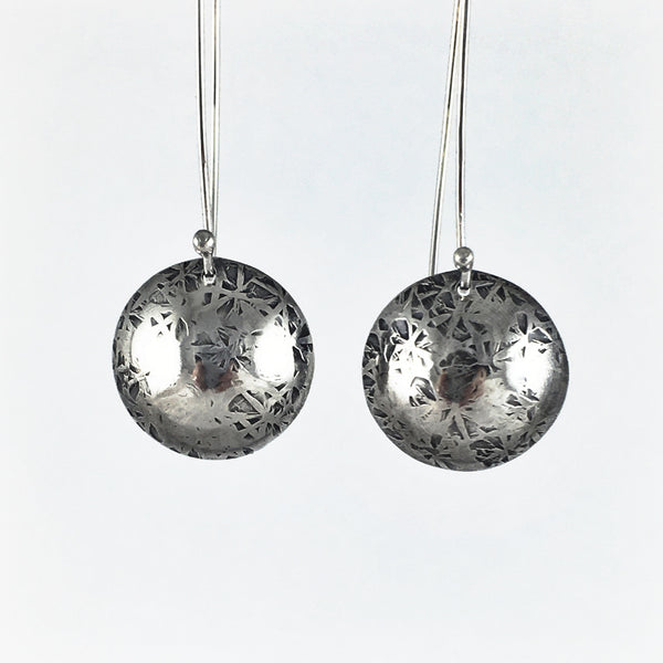 Silver Enigma Drop Earrings